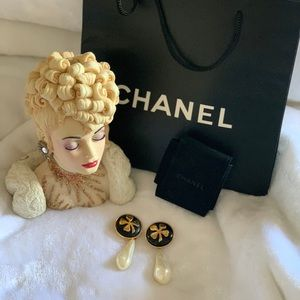Authentic Chanel Pear Drop Earring